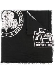 шарф с принтом Diesel