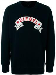 толстовка с принтом логотипа Diesel