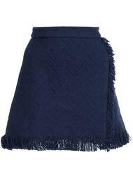 юбка А-образного кроя  с необработанными краями   Derek Lam 10 Crosby