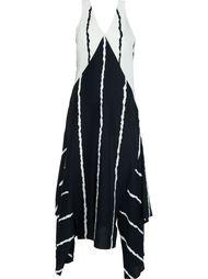 полосатое платье с асимметричным подолом Derek Lam 10 Crosby