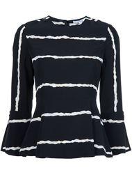 блузка с контрастными полосками   Derek Lam 10 Crosby