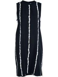 платье с контрастными полосками   Derek Lam 10 Crosby