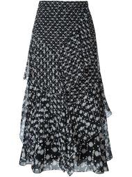 юбка с цветочным принтом  Peter Pilotto