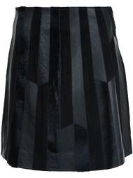 лоскутная юбка  Derek Lam 10 Crosby