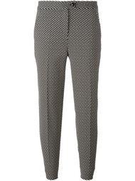 зауженные брюки с мелким узором Boutique Moschino