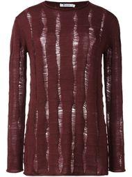 трикотажный свитер с потертой отделкой Alexander Wang