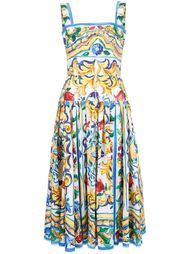 платье с принтом Majolica Dolce & Gabbana