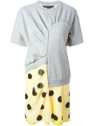 комбинированное платье асимметричного кроя  Marc By Marc Jacobs