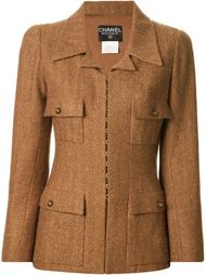 куртка с узором-ёлочка Chanel Vintage