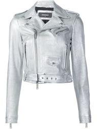 байкерская куртка с отделкой металлик Dsquared2