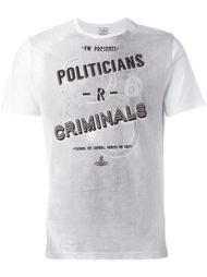 футболка с принтом 'Politicians/Criminals' Vivienne Westwood Man
