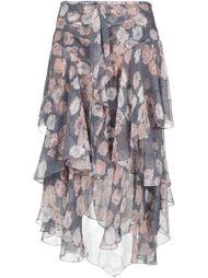юбка миди с цветочным принтом Jason Wu
