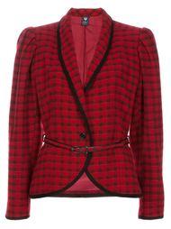 пиджак в шотландку с поясом Emanuel Ungaro Vintage