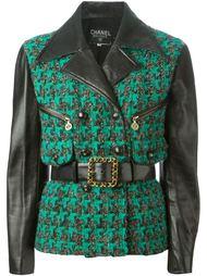 куртка из букле с панельным дизайном  Chanel Vintage