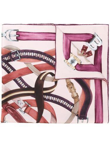 платок с узором в виде ремня Bally