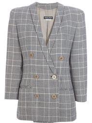 пиджак в клетку Giorgio Armani Vintage