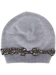 шапка-бини с украшениями Nº21