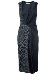 платье миди с узором-елочкой Jason Wu