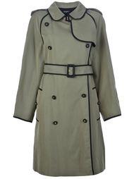 двубортное пальто тренч Chanel Vintage
