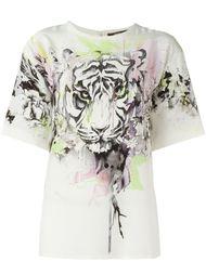 футболка с принтом тигра Roberto Cavalli