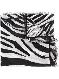 платок с принтом зебры Roberto Cavalli