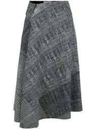 драпированная юбка в клетку Jason Wu