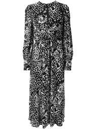 длинное платье с тигровым принтом Saint Laurent