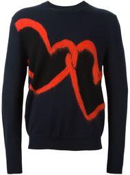 свитер с изображением сердца  Ps By Paul Smith