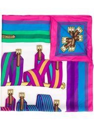 шарф с принтом  Hermès Vintage