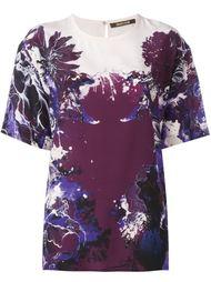 футболка с цветочным принтом   Roberto Cavalli