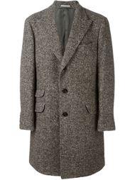 твидовое пальто  Brunello Cucinelli
