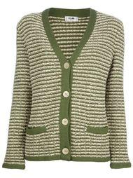 полосатый свитер на пуговицах Céline Vintage