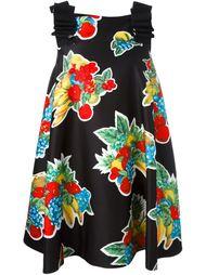 платье А-силуэта с принтом фруктов Victoria Victoria Beckham