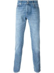 джинсы с вытертыми деталями Brunello Cucinelli