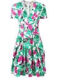плиссированное платье в принт  Antonio Marras