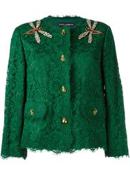 декорированный кружевной пиджак Dolce & Gabbana