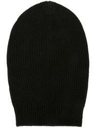 шапка ребристой вязки Rick Owens