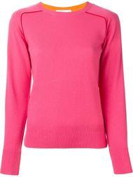 двухцветный свитер  Sacai Luck