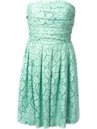 кружевное платье без бретелек Moschino Cheap & Chic