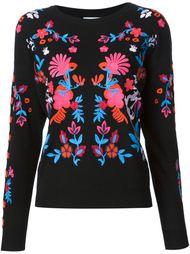 свитер с цветочной вышивкой Tanya Taylor