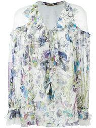 блузка с цветочным принтом   Roberto Cavalli