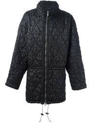 стеганое пальто на молнии Issey Miyake Vintage