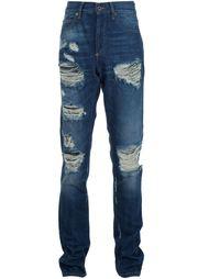 джинсы с потертой отделкой Off-White