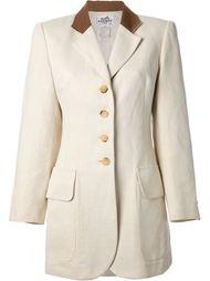 однобортный пиджак  Hermès Vintage