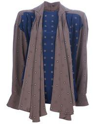 блузка с контрастными вставками Gianfranco Ferre Vintage