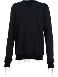 свитер с потертой отделкой Amiri