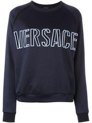толстовка с вышивкой логотипа  Versace