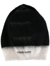 двухцветная шапка Rick Owens