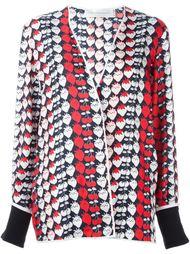 пиджак с принтом в клубнику Victoria Victoria Beckham