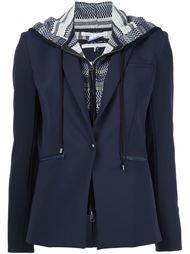 многослойный пиджак с капюшоном Veronica Beard